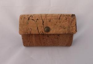 Geldbörse, aus Korkstoff, braun und schwarz, 12 Kartenfächer, Geldbeutel, little Ruby, handgemacht von Dieda - Handarbeit kaufen