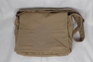 Canvastasche, groß, Umhängetasche, Schultertasche, sand, beige, Fullcover bestickt, hexagon, Dieda - Handarbeit kaufen