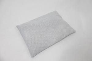1 Stück Reissäckchen, hellgrau, weiße Punkte, Reislagerungssäckchen, Variante mit abnehmbarem Bezug möglich, Skolioseerkrankung, Wärmesäckchen, für Motorik und Gleichgewichtsübunge