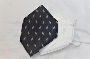 Cover, Überzug für FFP2 Masken, aus HeiQ Viroblock Filtervlies, Hund, schwarz