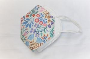 Cover, Überzug für FFP2 Masken, aus HeiQ Viroblock Filtervlies, Blumen, hell