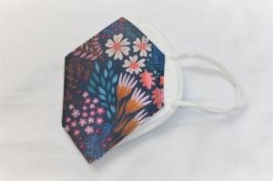 Cover, Überzug für FFP2 Masken, aus HeiQ Viroblock Filtervlies, Blumenfeld