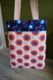 Handgemachte  Schultertasche/ Shopper in farbenfrohem Design     - Handarbeit kaufen