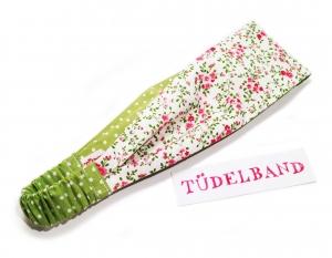 Haarband ...Blümchenduft...grün...rosa...geblümt - Handarbeit kaufen