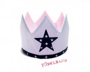 Krone...Geburtstagskrone...Die Geschwisterkrone... Mädchen/Junge...hellblau...rosa... - Handarbeit kaufen