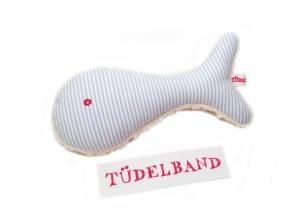 Babyrassel...Fisch Fiete...hellblau...Bio Teddyplüsch ⚓