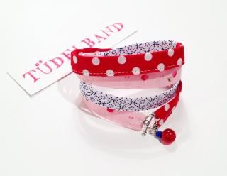 Wickelarmband  ...Tüdelüt...Kirschen...♥...rot...rosa...dunkelblau  - Handarbeit kaufen