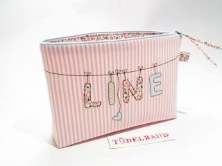 Kulturtasche Kulturbeutel Windeltasche - L -  rosa/geblümt - Handarbeit kaufen