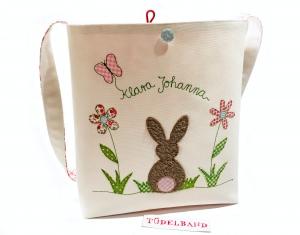 Kindertasche...die Tüdelhasentasche... cremeweiß...geblümt - Handarbeit kaufen
