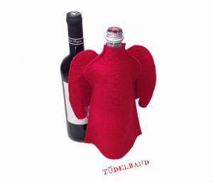 Flaschenengel...Flaschenkleid...★... rot...Wolle... - Handarbeit kaufen