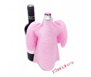 Flaschenengel...Flaschenkleid...★... rosa...Wolle... - Handarbeit kaufen