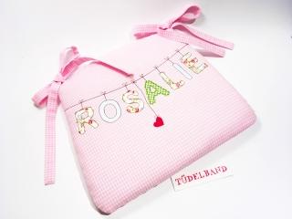 Stuhlkissen...Herzchen an der Leine...♡... rosa...geblümt - Handarbeit kaufen