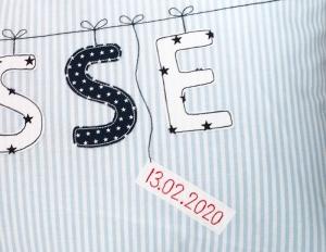 Datumstickerei...für Tüdelband-Produkte...♡...