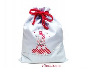 Turnbeutel Geschenkebeutel...Auto mit Geschenken...★... hellblau...rot