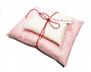 Puppenbettwäsche ★...Sternchen...★ rosa...weiß - Handarbeit kaufen