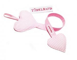 Haarspangenhalter...Tüdelherz....rosa Streifen...rosa Pünktchen... - Handarbeit kaufen