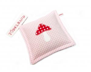 Kirschkernkissen ...kleiner Glückspilz....rosa...rot  - Handarbeit kaufen