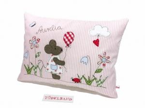 Kissen ...kleine Blumenwiese... ♡ ... rosa...geblümt...von Tüdelband... - Handarbeit kaufen