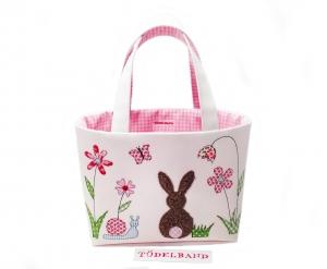 Osterkörbchen...Frühlingswiese... rosa...Häschen... - Handarbeit kaufen