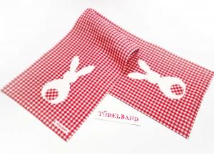 Tischläufer...Tüdelhäschen...♡... rot...weiß...