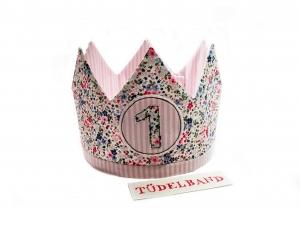Krone Geburtstagskrone...die Wendekrone...  rosa...geblümt - Handarbeit kaufen