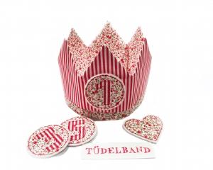 Krone Geburtstagskrone...die Wendekrone...  rot...geblümt  - Handarbeit kaufen