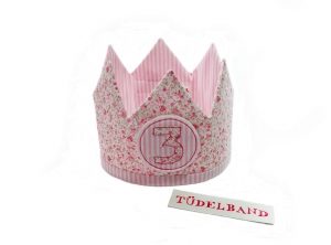 Krone...Wendekrone... Geburtstagskrone...geblümt...rosa    - Handarbeit kaufen