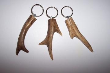 Schlüsselanhänger aus Hirschhorn/Rehhorn