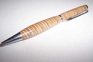 Verleimter Kugelschreiber aus Birke / Buche