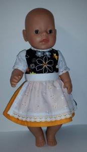 2 tlg.Puppenset für Gr. 40 -43cm Dirndl PuppenKleid