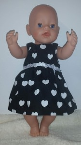 Puppenkleid für Gr. 40 -43cm Kleid Einzelstück