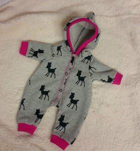 Jumper für Gr. 25-30cm Puppen Puppenanzug Puppenkleidung pink