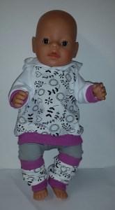 4 tlg.Puppenset für Gr. 40 -43cm Puppenkleidung
