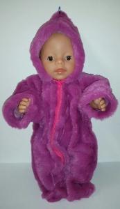 Puppenanzug aus Wellnessteddyfleece für Puppen von 40-43cm  Einzelstück