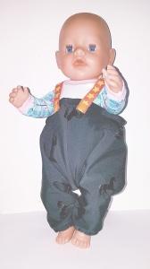 Matschhose  Buddelhose  für Puppen von Gr. 40 -43cm Puppenkleidung  Einhorn