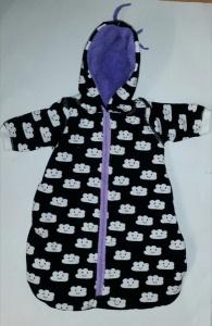 Anzug Schlafsack für 36-39 cm Puppe Kuschelanzug Puppenkleidung  Wolke
