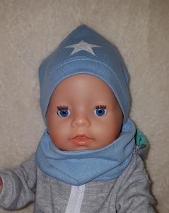 Puppen Mütze Halssocke  für Gr. 43-46cm Puppe Puppenkleidung  Beanie