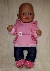 2 tlg.Puppenset für Gr. 40 -43cm Puppenkleidung  Einzelstück