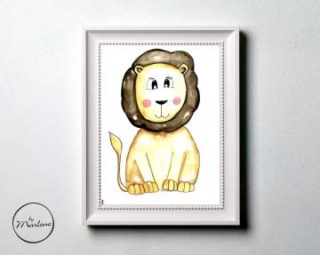 Poster Löwe, Kinderzimmer Bild