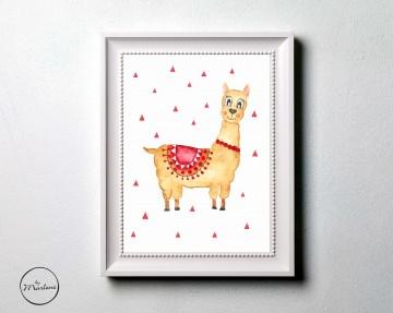Poster Lama, Kinderzimmer Bild