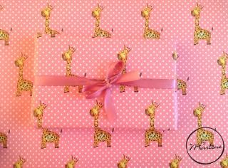 Geschenkpapier Giraffe