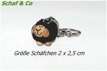 Schlüsselanhänger-Taschenbaumler-Charms. schwarzes Schäfchen☼☼