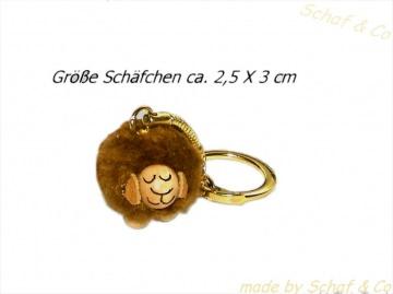 lustiger Schlüsselanhänger-Taschenbaumler-Charms. braunes Schäfchen☼☼