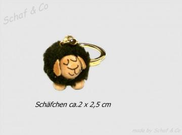 Schlüsselanhänger-Taschenbaumler-Charms♥.schwarzes Schäfchen♥☼☼