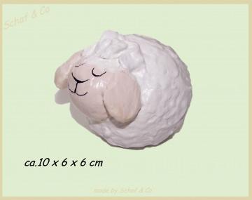 ♥ lustiges Schäfchen als Deco, handgeformt und jedes Schaf ein Einzelstück♥