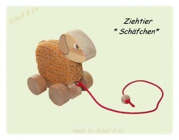♥♥ Ziehtier-Holzschaf zum Ziehen-begleitet ihr Kind bei den ersten Laufversuchen♥♥