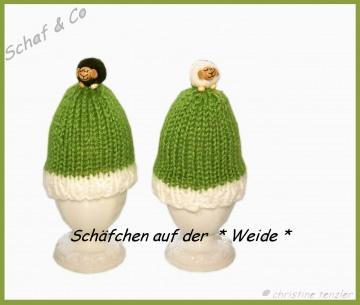 2 Eierwärmer * Schäfchen auf der Weide* mde by Schaf & Co