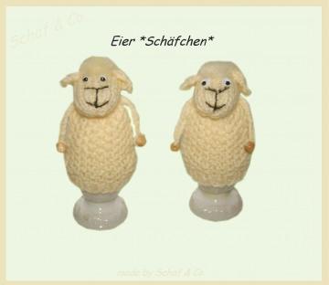 1 PAAR  Eierwärmer *  lustige Schäfchen * made by Schaf & Co