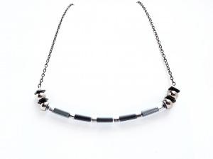 Halskette Anthrazit Gliederkette Hämatit Trend Schmuck
