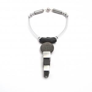 Halsschmuck Konstrukt Natur Horn Unikat Collier Halskette SCHMUCKkunst